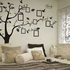 Personalised Vinyl Stickers Large Family Tree Birds Frame Living Room Wall Art Ebay