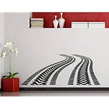 Decorative Accessories Track Wall Decal Tire Tracks Wall Sticker Garage Decor Car Track Wall Vinyl Car Decal Race Track Sticker Ae661 Stickers Handmade Products Decorative Accessories