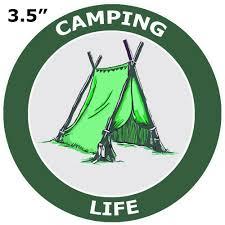 Camping Life Tent 3 5 Die Cut Auto Window Decal Souvenir Travel National Parks Explore Nature Logo Series Walmart Com Walmart Com