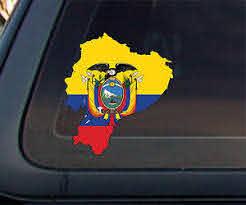 Ecuador Flag Map Car Decal Sticker Ebay