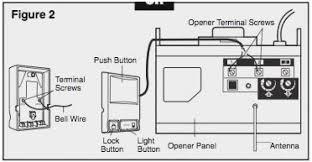 sears garage door opener wiring