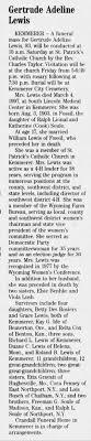 SOULE LEWIS, GERTRUDE ADELINE - OBITUARY - Star-Tribune, Casper ...