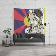A Little Tibetan Girl Wall Tapestry By Nirvanatw Society6