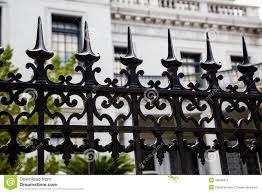 Spikes On Wrought Iron Fence Stock Image Image Of Safety Decorative 49539415