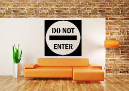 Amazon Com Vinyl Sticker Do Not Enter Sign Door Poster Stop Privacy Disturb Danger Teenager Kids Room Mural Decal Wall Art Decor Sa2165 Handmade