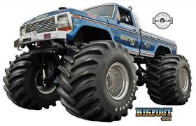 Bigfoot 4x4 Monster Truck Wall Decal 12 Inches Tall T2 Word Factory Design