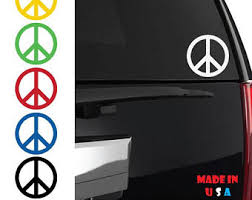 Peace Sign Stickers Etsy