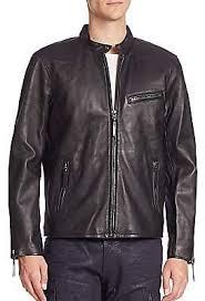 lambskin leather café racer jacket