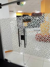 glass manifestation window and door