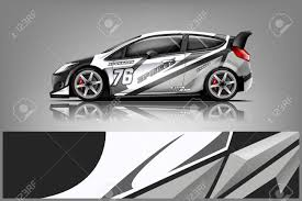 Car Decal Wrap Design Vector Graphic Abstract Stripe Racing Royalty Free Cliparts Vectors And Stock Illustration Image 125574404