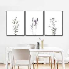 Modern Farmhouse Botanical Wall Art Canvas Posters Print Eucalyptus Lavender Olive Stem Painting Wall Pictures Home Room Decor Painting Calligraphy Aliexpress