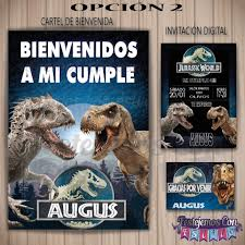 Kit Imprimible Personalizado Jurassic World Cumpleanos 220 00