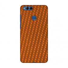 Huawei Honor 7x Case Premium Handcrafted Printed Designer Hard Snap On Shell Case Back Cover With Screen Cleaning Kit For Huawei Honor 7x Carbon Fibre Redux Tangy Orange 12 Walmart Com