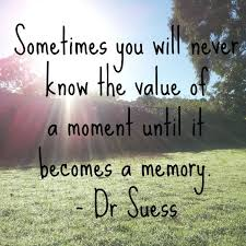 sometimes you will never know the value of a moment until it