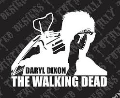 Daryl Dixon The Walking Dead Vinyl Car Truck Decal Sticker Rick Grimes Ebay