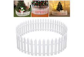 25pcs Set White Plastic Picket Fence Miniature Home Garden Christmas Xmas Tree Wedding Party Decoration Wish