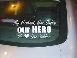 Our Hero Soldier Army Wife Child Car Decal Sticker New Etsy