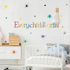 Every Child Is An Artist Inspirational Saying Quotes Diy Removable Wall Stickers Decals Mural Living Room Home Decor Tree Wall Sticker Tree Wall Stickers From Kity12 1 01 Dhgate Com