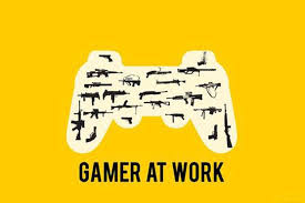 pixadunes gaming hd quality poster gamer at work x inches
