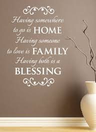 Wall Vinyl Quote Home Family Blessing 22x 30 By Aubreyheath 32 00 Home Quotes And Sayings Vinyl Quotes Vinyl Wall Quotes