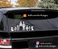 Disney Family Decal Car Decal Disney Decal Disney Family Etsy