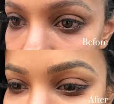 microblading with an eyebrow tattoo a