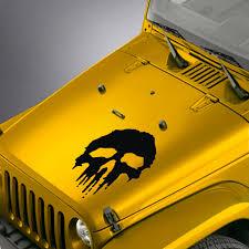 Usmc Marine Corps Style Punisher Hood Decal Sticker Fits Jeep Wrangler Skunkmonkey