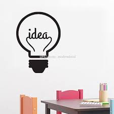 Idea Symbol Motivation Quote Wall Stickers Home Decor Living Room Creative Light Bulb Wall Decals Vinyl Sticker Stickers On Wall Stickers On Walls From Moderndecal 5 09 Dhgate Com