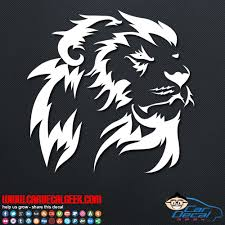Beautiful Lion Car Window Decal Sticker Graphic