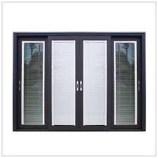 window with blinds between glass