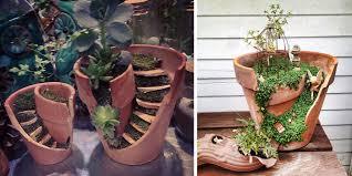 broken pots turned into brilliant diy
