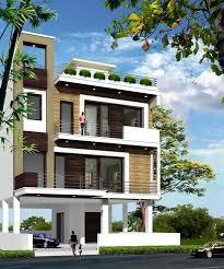 ap031 stilt parking with triplex house