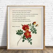 mary oliver quote prints you ll need on your walls and shelves