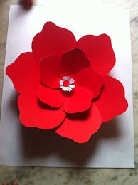 Giant(Big) Paper Flowers with Durable Ivory Sheets at Rs 150/each ...