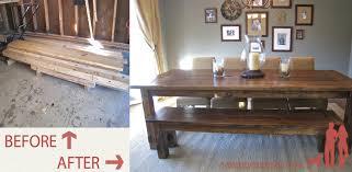 farmhouse table details tommy ellie