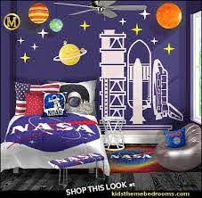Decorating Theme Bedrooms Maries Manor Outer Space Decor Space Themed Kids Rooms Planets Decor Astronaut Wall Murals Outer Space Bedding Galaxy Themed Room Decor Space