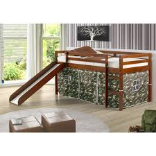 Donco Trading Company Kids Beds 750te Twin Tent Loft Bed W Slide Camo Loft Bed From Mike S Furniture Port Arthur
