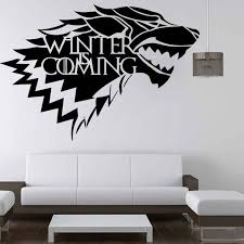 4 Style Multi Size Stark Vinyl Decal Game Of Thrones Sticker Fashion Tv Poster Wall Stickers Living Room Home Decoration Game Of Thrones Sticker Wall Stickergame Of Thrones Aliexpress
