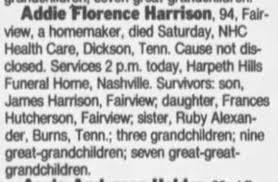 Obituary for Addie Mangrum - Newspapers.com