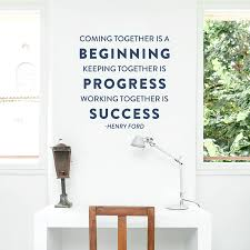 Henry Ford Success Wall Quote Decal