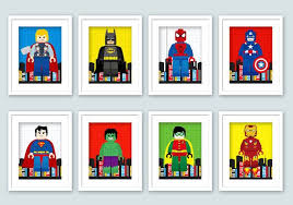 Lego Superhero Wall Art Superhero Posters Bedroom Prints Nursery Prints Lego Wall Print 8x10 Digital P Superhero Wall Art Lego Print Superhero Poster