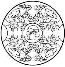 Mandala Herfst Kleurplaten Mandala Herfst