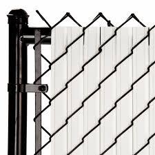 Slat Depot Chain Link White Solitube Max Privacy Slat For 6 Ft Fence Bottom Lock