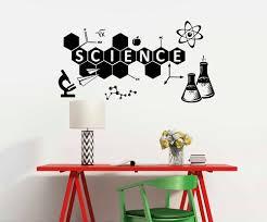 Science Wall Decal Chemistry Vinyl Sticker Education Classroom Wall Decor Mural Home Ornament Teen Bedroom Decoration Decal D639 Aliexpress Com Imall Com
