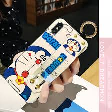 Cute Doraemon iPhone Cases With Stand In TPU