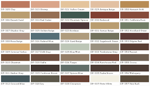 behr paint red color chart catan
