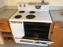 general electric 1950 s vintage stove