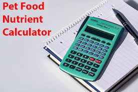 pet food calculator paring nutrient
