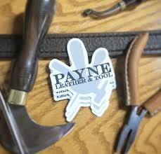 Payne Leather Tool Die Cut Decal Payne Leather Tool