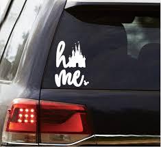 Disney Home Decal Disney Home Sticker Disney Car Decal Etsy Disney Car Decals Disney Cars Car Decals